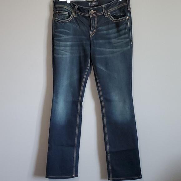 Silver Bootcut Jeans, W32/L35
